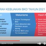Pedoman Operasional Beban Kerja Dosen (BKD) Tahun 2021